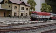751 004-3 jako náhrada za motorový vůz se spěšným vlakem ve stanici Kaplice.