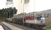 Zamračená 751 038-1 čeká na protijedoucí vlak v Židově.